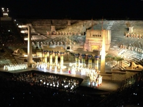 Verdi's Opera, Aida performed at the Verona Arena