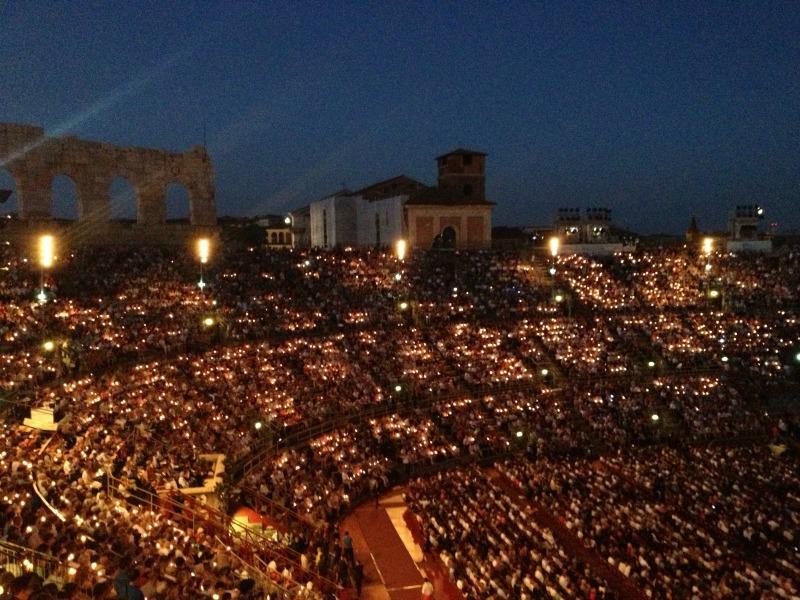 Verona Arena: Candles