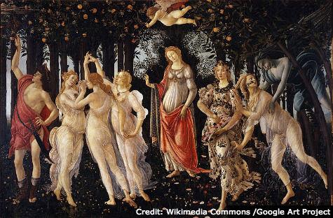Uffizi - Botticelli - Primavera