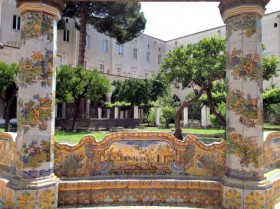 Cloister of the Clarisse in Naples, Italy