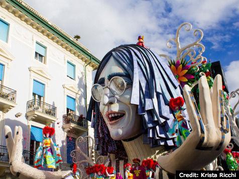 Carnival floats in Viareggio
