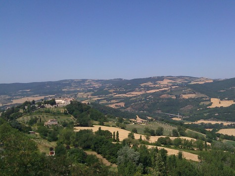 Postcard from Italy - View of the Umbrian countryside near Todi