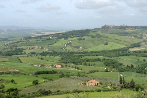View of Pienza from Monticchiello