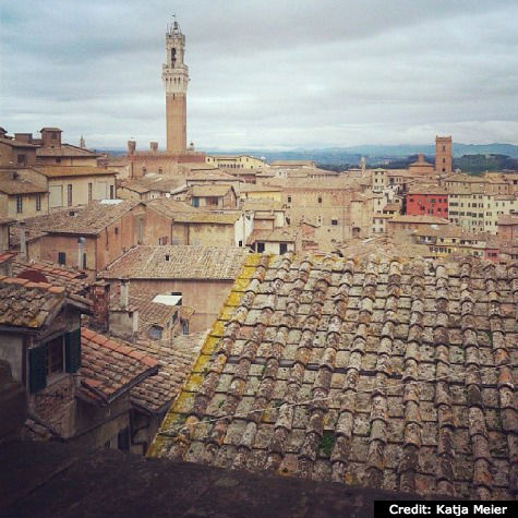 Rooftop view of Siena