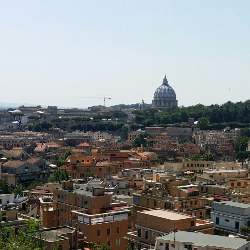 View from Balduina | August in Rome for Foodies | BrowsingItaly.com