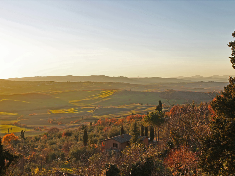 Pienza in December by Kenny Kim | Italy Show and Tell: Tuscany in Fall/Winter | BrowsingItaly.com