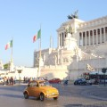 Postcard from Italy: Vintage Fiat 500 in Piazza Venezia, Rome | 10 Favorites Reads on Italy: Oct 10, 2014 | BrowsingItaly.com