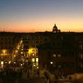 Sunset at Piazza di Spagna, Rome | BrowsingItaly