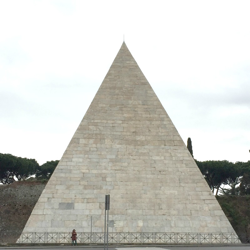 Pyramid of Cestius in Rome | 25 Favorite Photos of Italy on Instagram | BrowsingItaly.com
