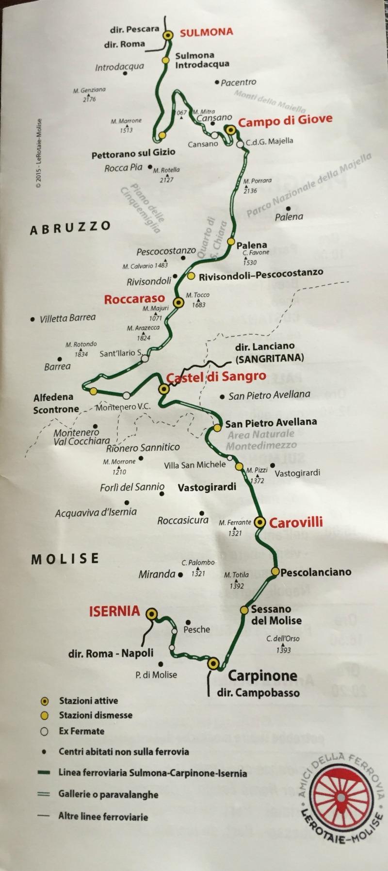 Map route | Transiberiana d'Italia - Ride on a historic train