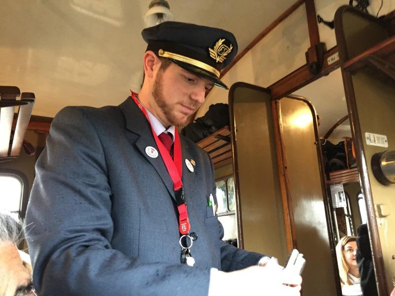 Train conductor | Transiberiana d'Italia - Ride on a historic train