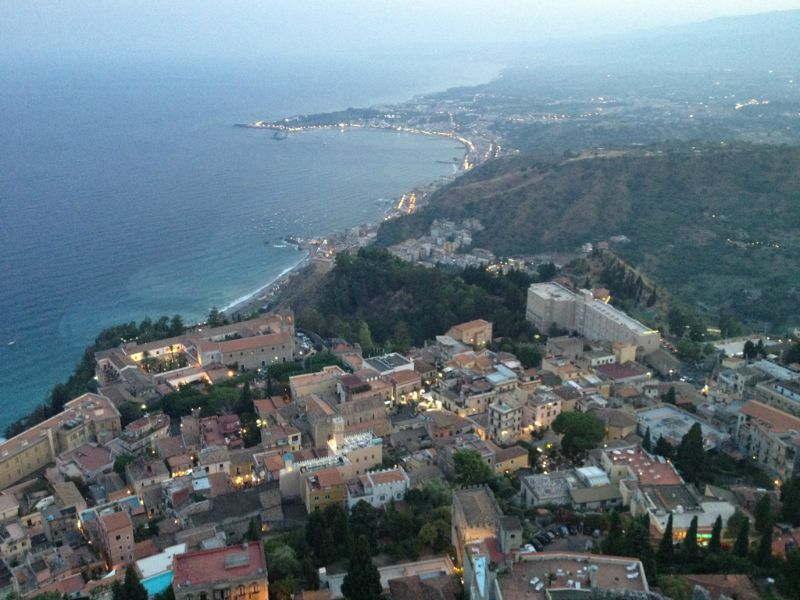 View from Castelmola, Sicily | BrowsingItaly