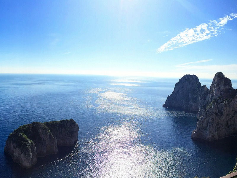 Picnic spots in Capri, Italy | Photo credit: Ristorante Michel'angelo in Capri | BrowsingItaly.com