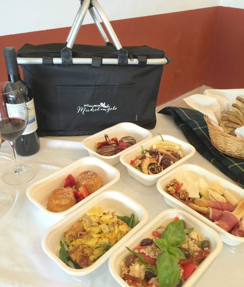 Capri, Italy: Picnic dishes | Photo credit: Ristorante Michel'angelo in Capri | BrowsingItaly.com