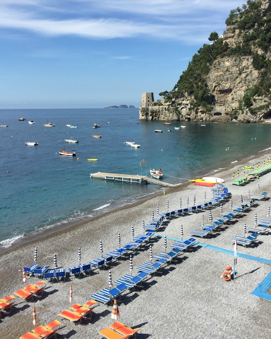 Fornillo Beach, Positano | Amalfi Coast | BrowsingItaly.com