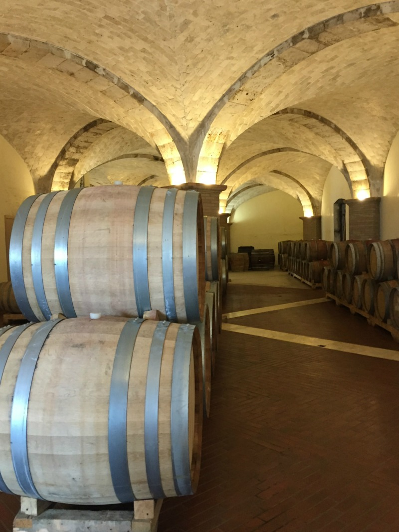 Wine cellar at Villa Acquaviva in Maremma, Tuscany | BrowsingItaly.com