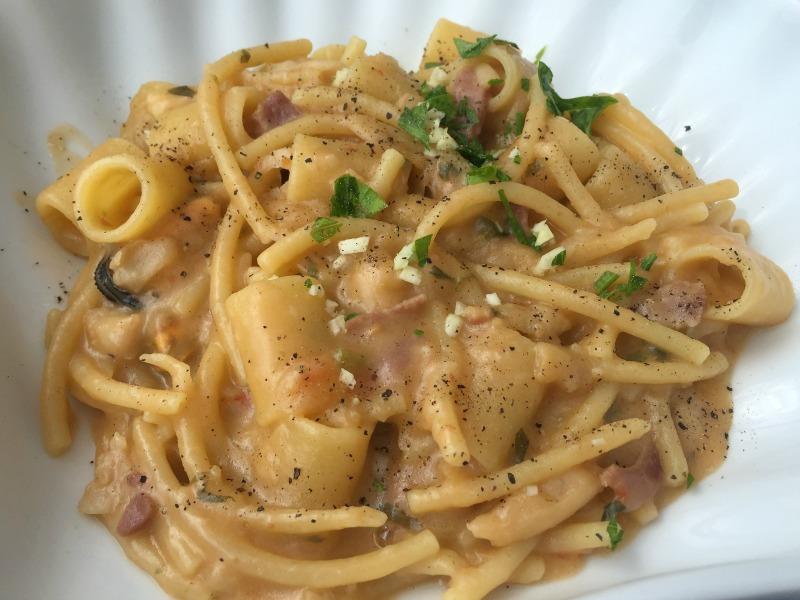 Pasta e fagioli at F.lli Grassi stabilimento in Positano, Amalfi Coast | BrowsingItaly.com
