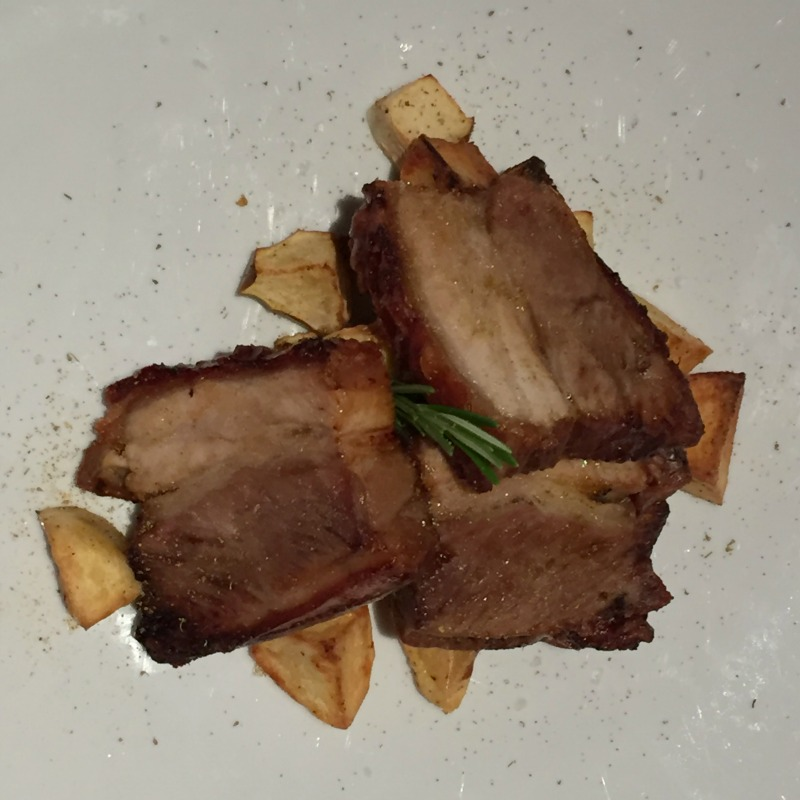 Roasted pork belly at La Limonaia restaurant at Villa Acquaviva in Maremma, Tuscany | BrowsingItaly.com
