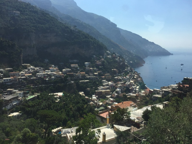 View of Positano on the bus ride from Nocelle | Amalfi Coast | BrowsingItaly.com