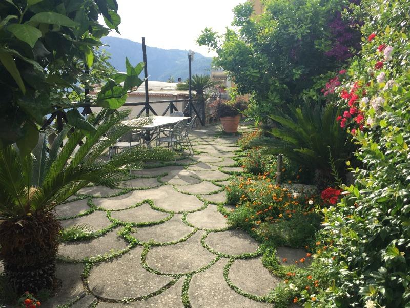 Outdoor area at Villa degli Dei in Nocelle | Positano, Amalfi Coast | BrowsingItaly.com