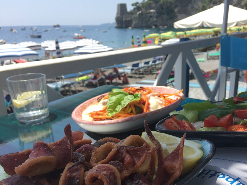 Lunch on Fornillo Beach, Positano | Amalfi Coast | BrowsingItaly.com