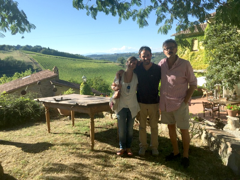 Arianna and Alessio of Km Zero Tours with Franco from Il Bacio | BrowsingItaly.com