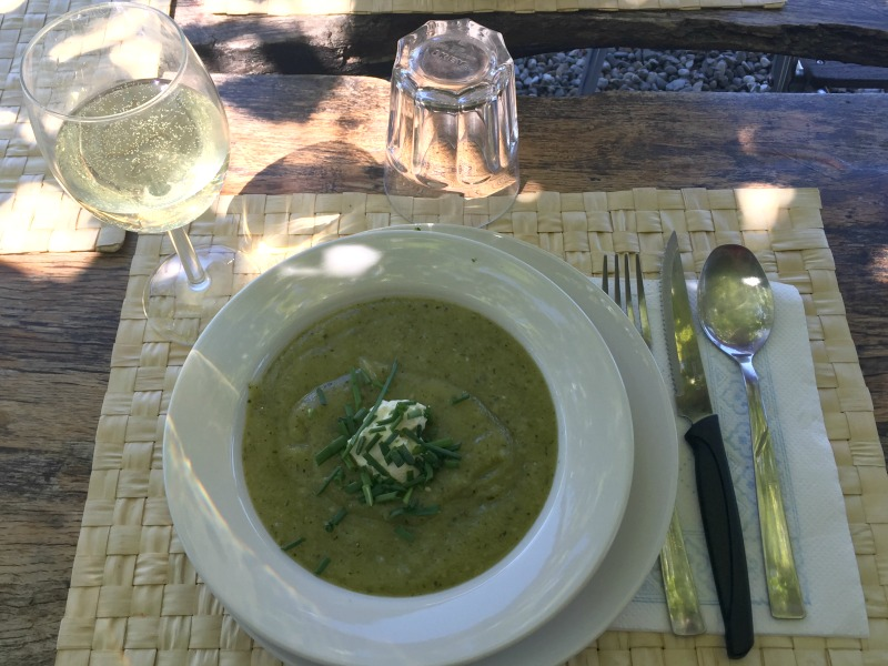 Zucchine soup made with zucchine from the vegetable garden at Chianti Cashmere Goat Farm | Slow Travel in Tuscany with Km Zero Tours | Slow Travel in Tuscany with Km Zero Tours | Slow Travel in Tuscany with Km Zero Tours |BrowsingItaly.com