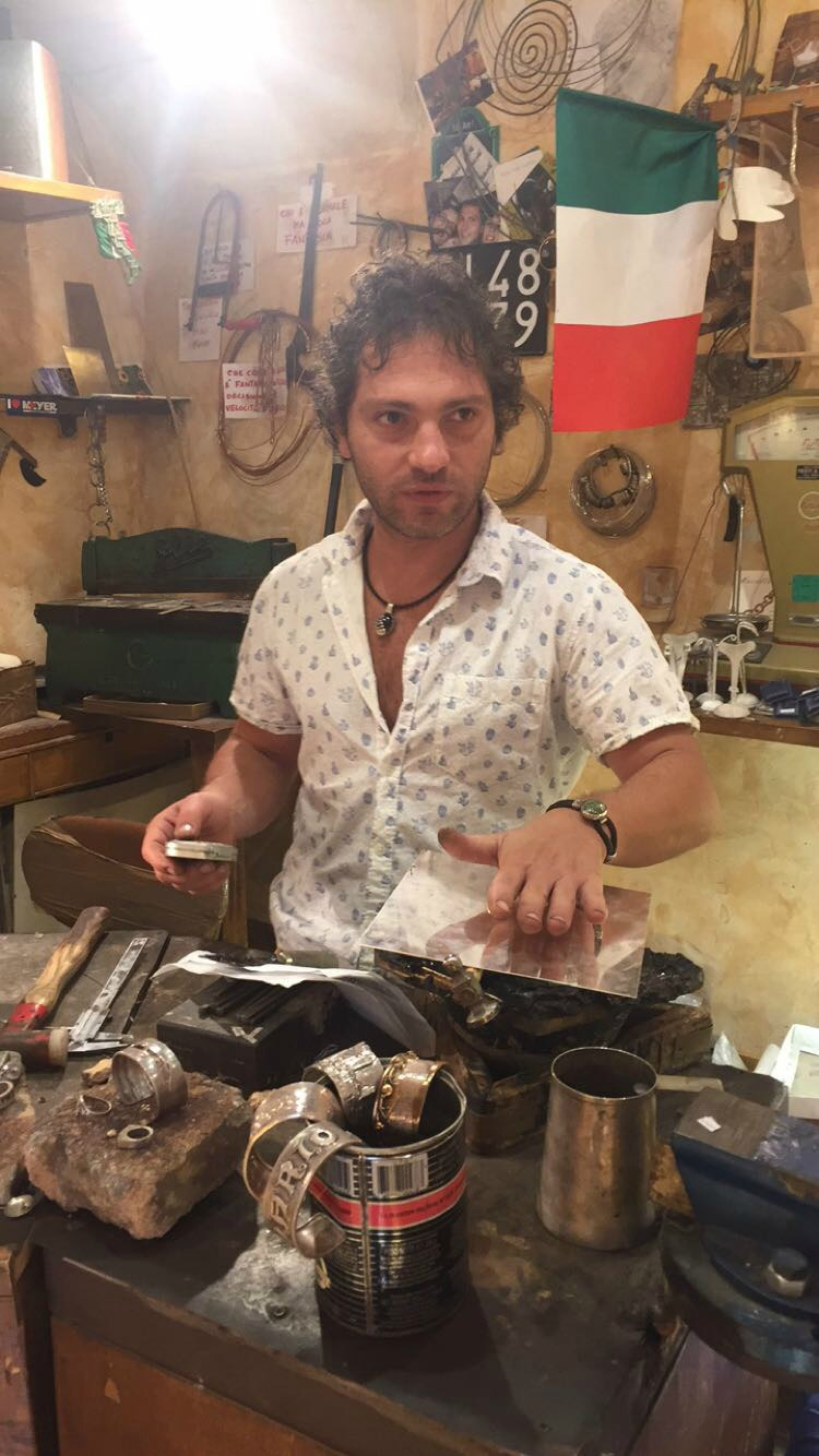 Matteo Macalle', a silversmith in San Gimignano, Tuscany | Slow Travel in Tuscany with Km Zero Tours | BrowsingItaly.com