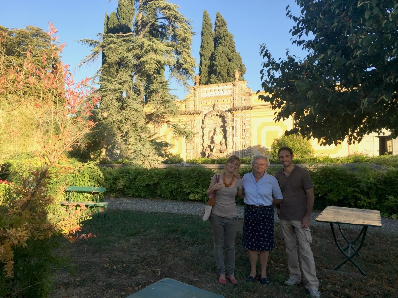 Arianna, Anna, and Alessio at the villa | Slow Travel in Tuscany with Km Zero Tours | BrowsingItaly.com