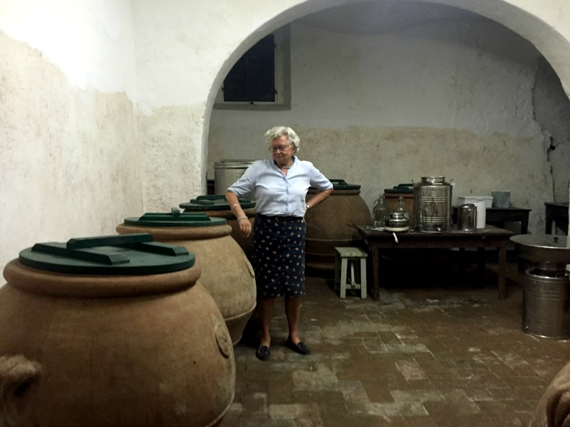 Terracotta jars once used to store olive oil | Slow Travel in Tuscany with Km Zero Tours | BrowsingItaly.com