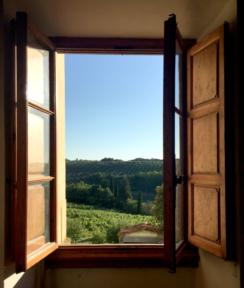 View of the estate from the villa near San Casciano Val di Pesa | Slow Travel in Tuscany with Km Zero Tours | BrowsingItaly.com