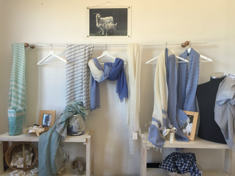 Finished cashmere products at Chianti Cashmere Goat Farm | Slow Travel in Tuscany with Km Zero Tours | BrowsingItaly.com