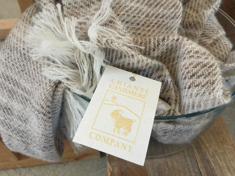 Beautiful finished cashmere products from Chianti Cashmere Goat Farm | Slow Travel in Tuscany with Km Zero Tours | BrowsingItaly.com