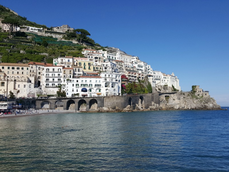 View of Amalfi from the sea | Amalfi Coast and Rome Culinary Vacation
