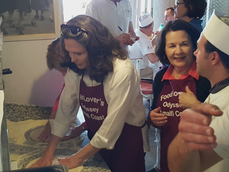 Pizza-making class on the Amalfi Coast and Rome Culinary Vacation