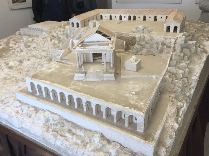 Model of the Temple of Jupiter Anxur in Terrracina | BrowsingItaly.com