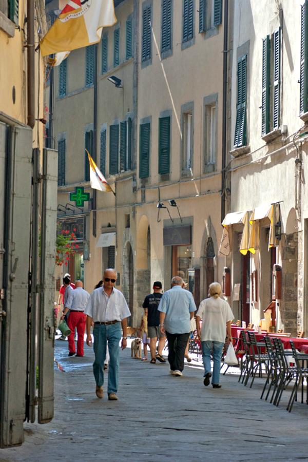 Via Nazionale in Cortona, Tuscany