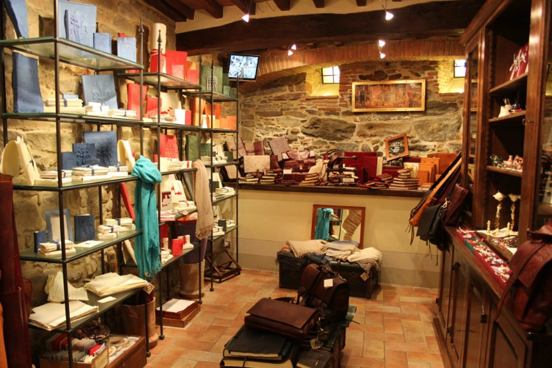 Il Pozzo gift-shop, set up by the Botanici family in Cortona, Tuscany