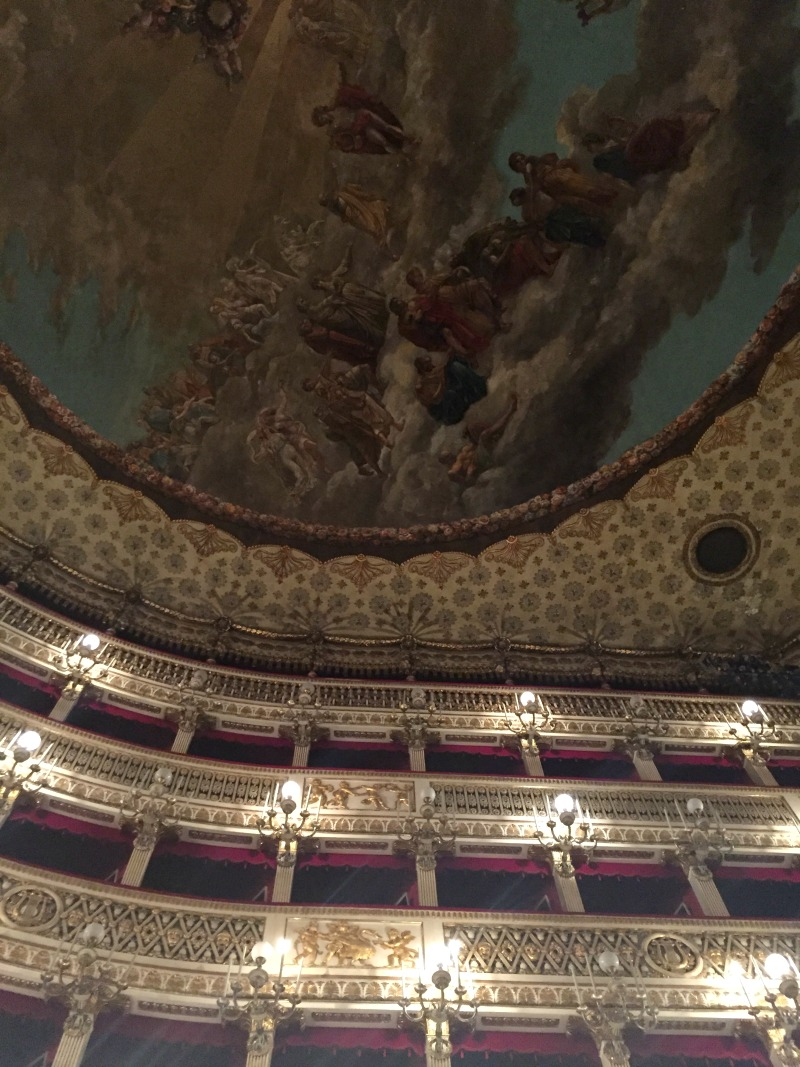 Teatro San Carlo in Naples, Italy: canvas ceiling | BrowsingItaly.com