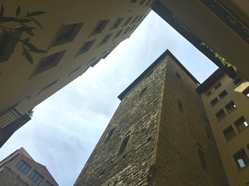 Medieval tower at Hotel Lungarno, Florence