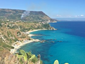 Coastal towns and beaches in Calabria on the Tyrrhenian Sea